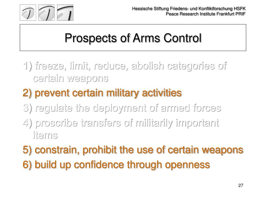 Prospects of Arms Control
