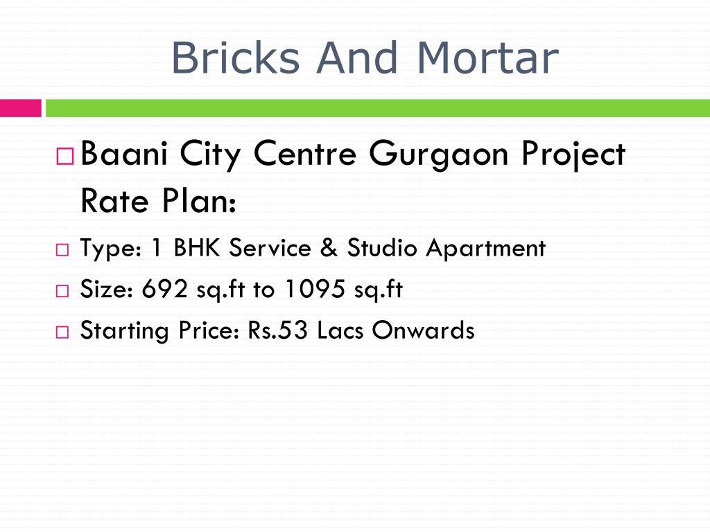 Bricks And Mortar
