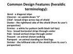 common design features heraldic terminology