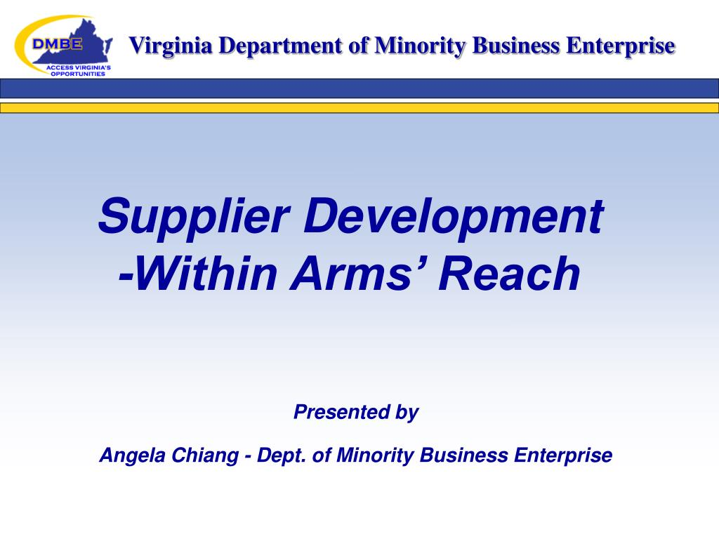 supplier development within arms reach l.