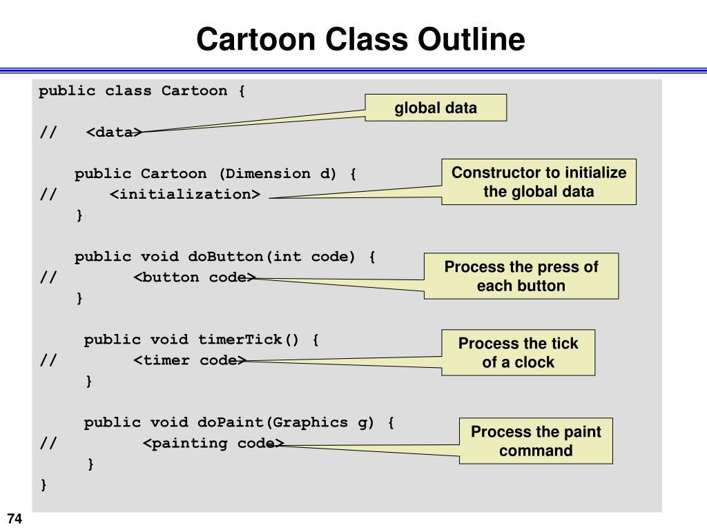 Cartoon Class Outline