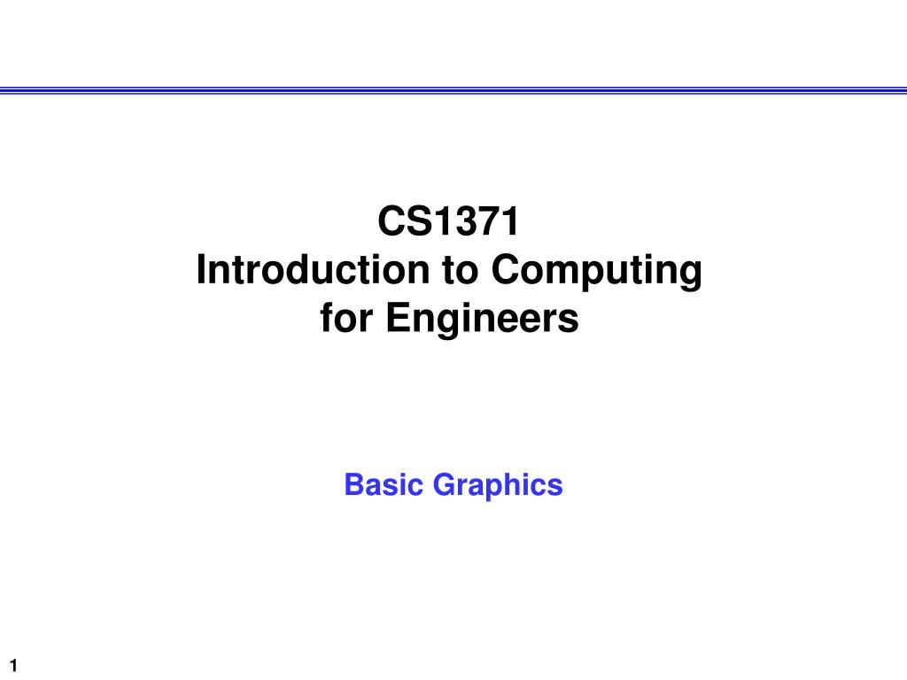 cs1371 introduction to computing for engineers l.
