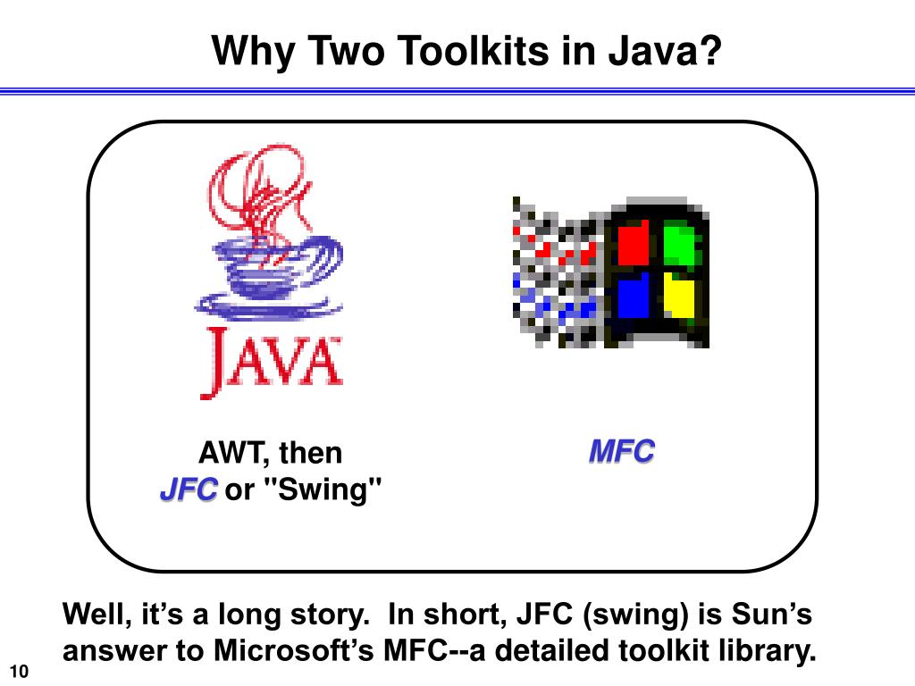 Why Two Toolkits in Java?