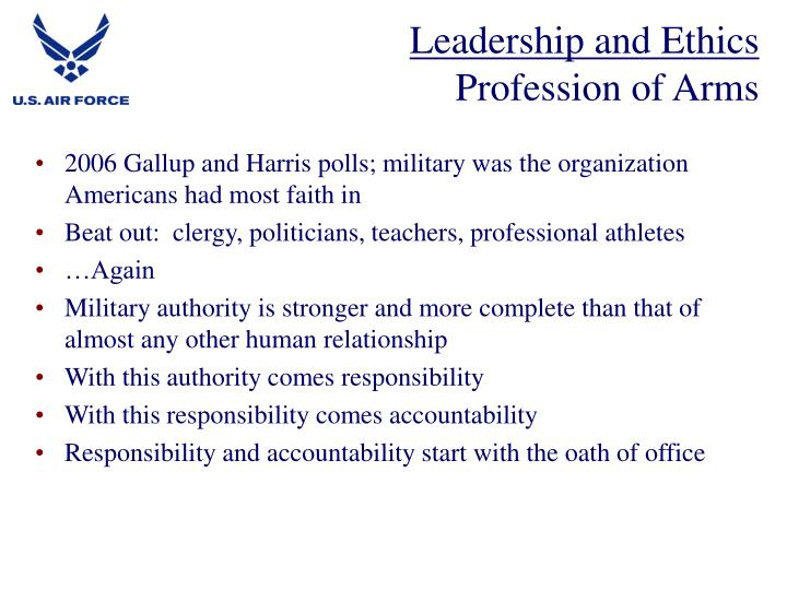 Leadership and ethics profession of arms3