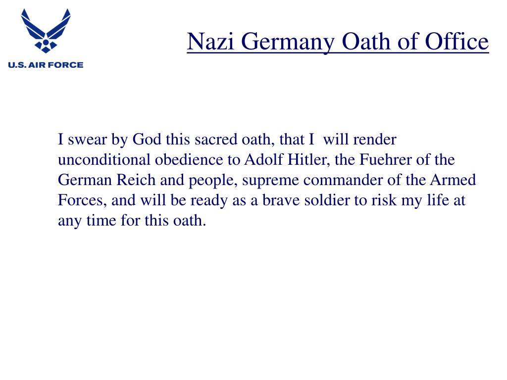 Nazi Germany Oath of Office