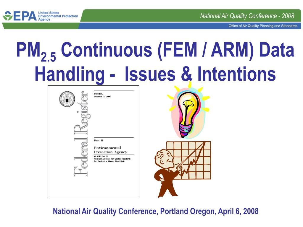 pm 2 5 continuous fem arm data handling issues intentions l.