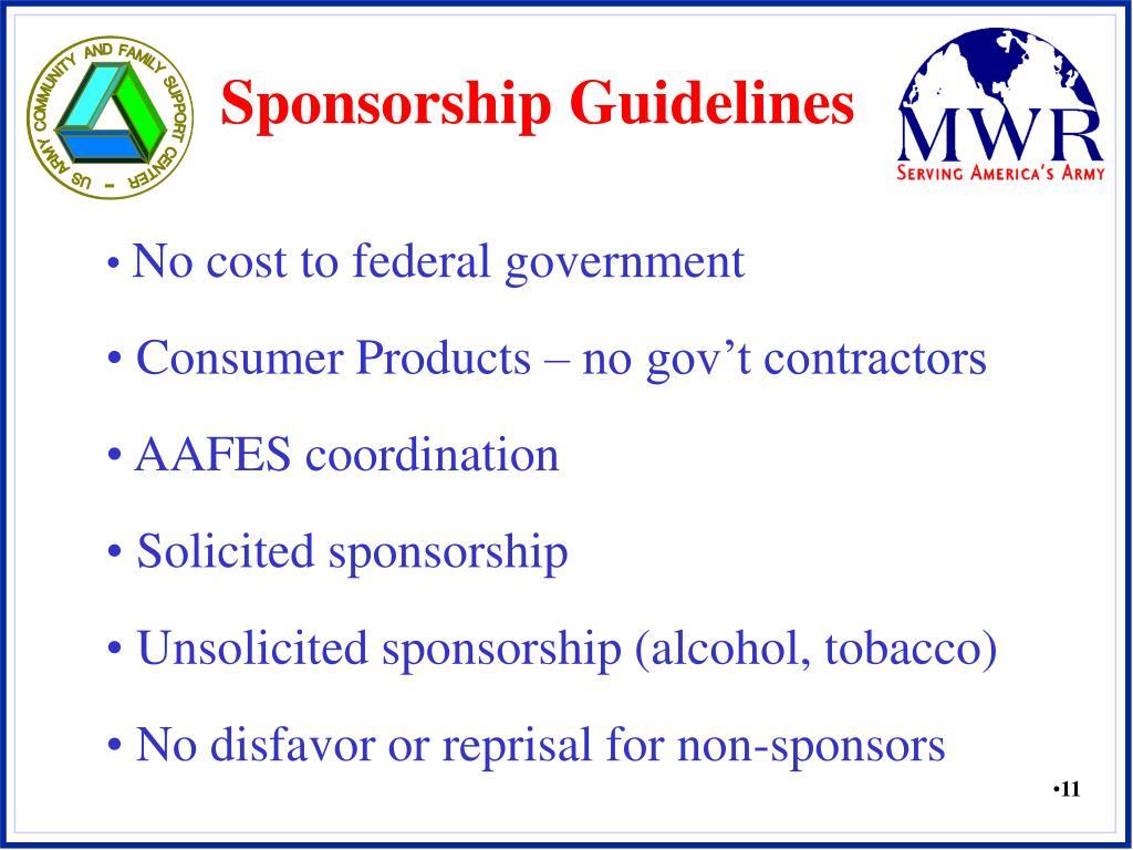 Sponsorship Guidelines