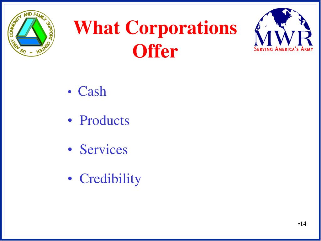What Corporations Offer