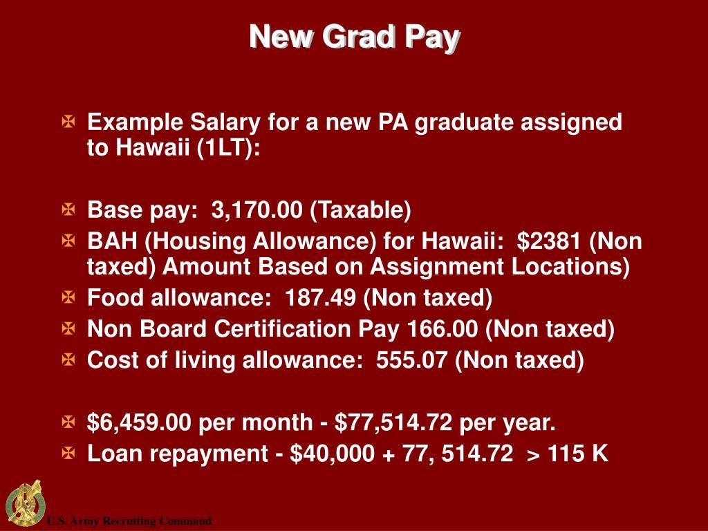 New Grad Pay