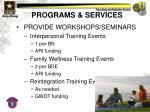 programs services11