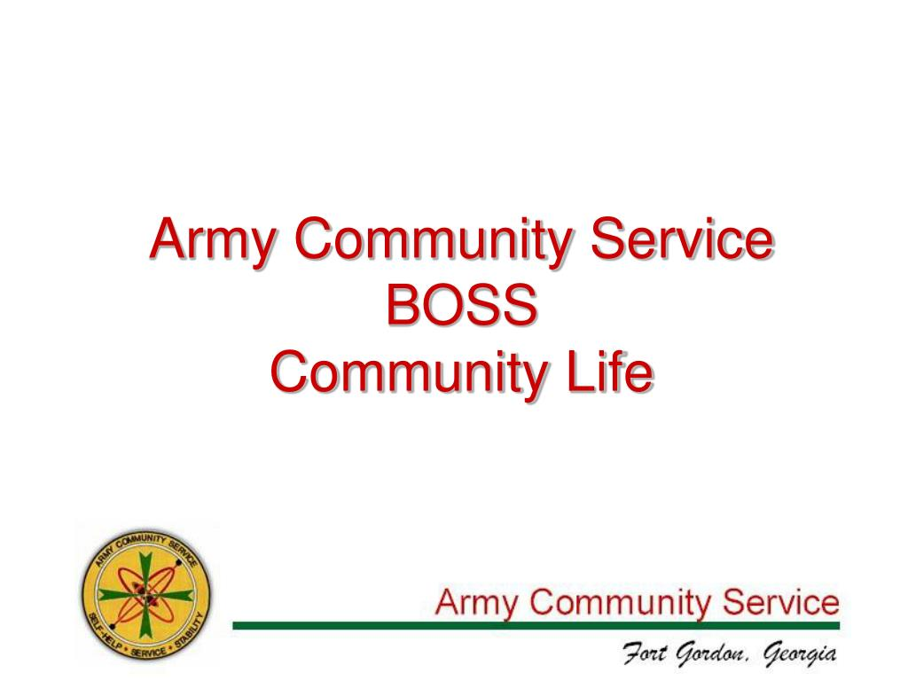 army community service boss community life l.