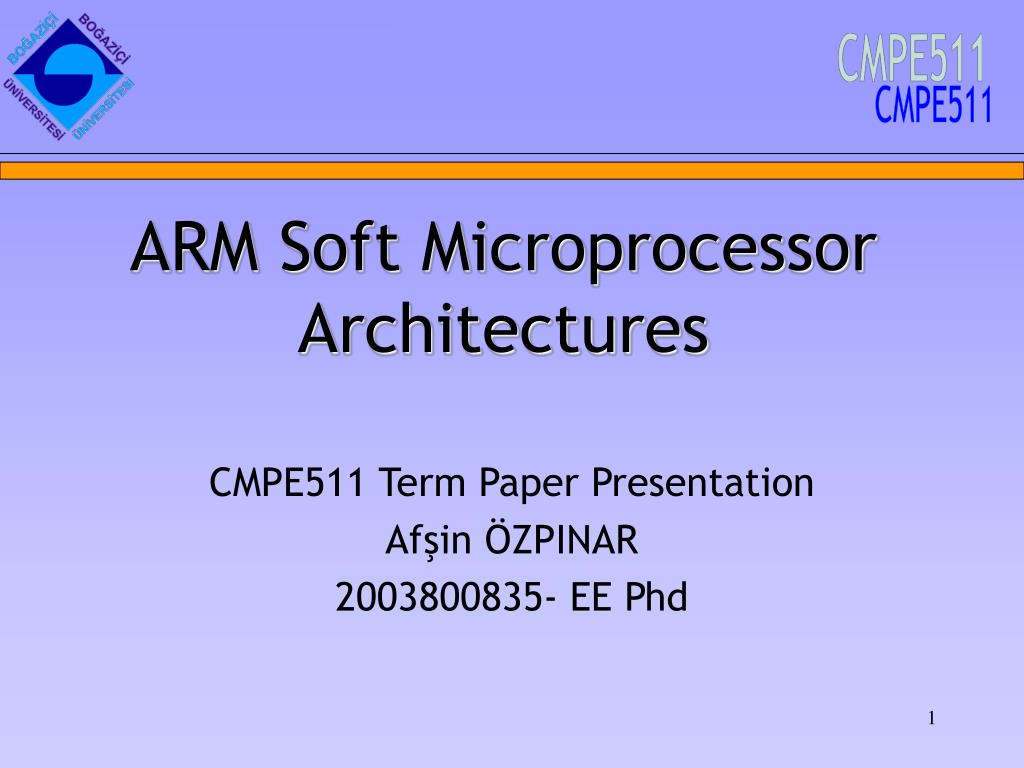 arm soft microprocessor architectures l.