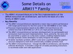 some details on arm 11 family
