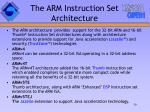 the arm instruction set architecture