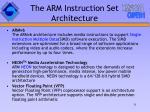 the arm instruction set architecture31