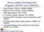 army leader development program aldp non tradoc
