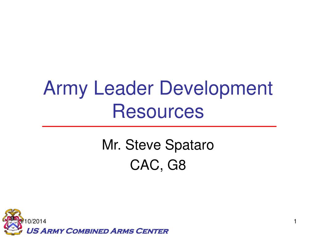 army leader development resources l.