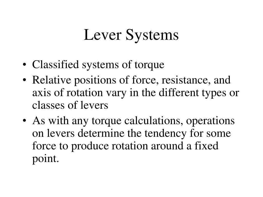 lever systems l.
