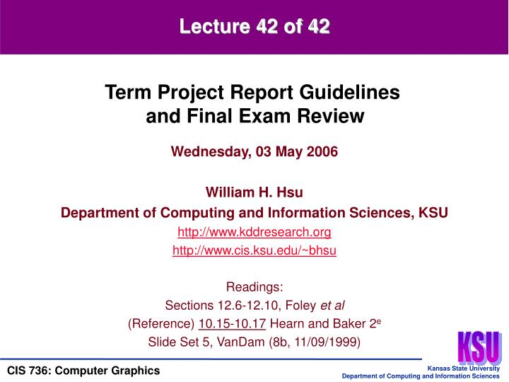 Lecture 42 of 42