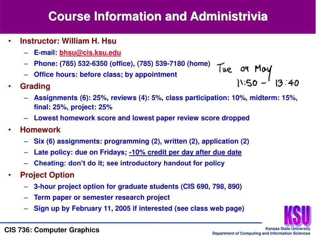 Course Information and Administrivia