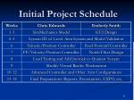 initial project schedule