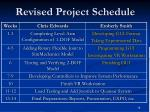 revised project schedule