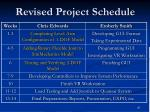 revised project schedule27