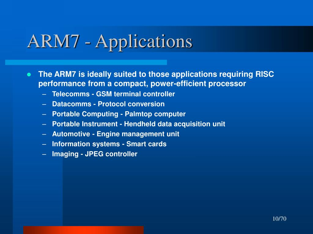 ARM7 - Applications