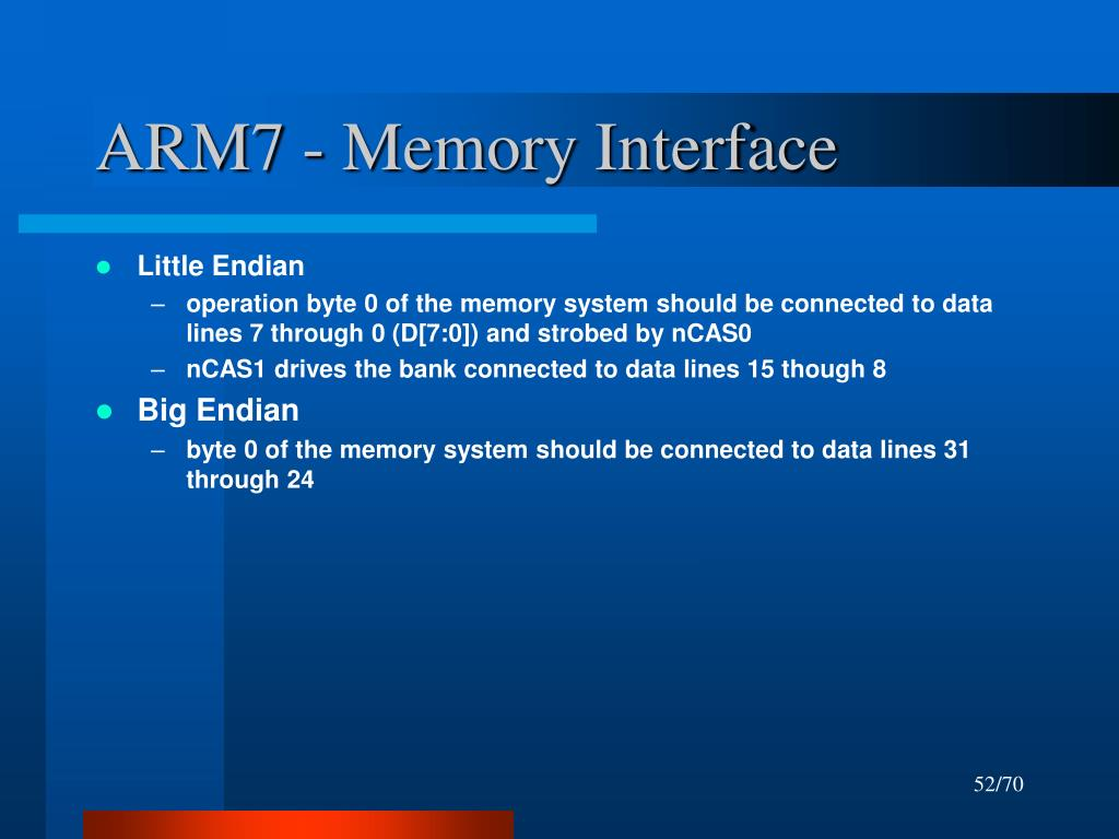ARM7 - Memory Interface