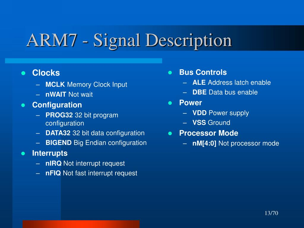 ARM7 - Signal Description