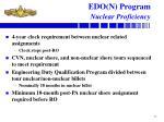 edo n program nuclear proficiency