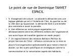 le point de vue de dominique tanvet espacil17