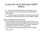 le point de vue de dominique tanvet espacil18