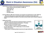 work in situation awareness sa