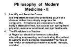 philosophy of modern medicine ii