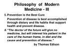 philosophy of modern medicine iii