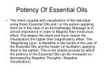 potency of essential oils