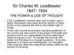 sir charles w leadbeater 1847 1934