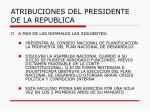 atribuciones del presidente de la republica