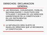 derechos declaracion general