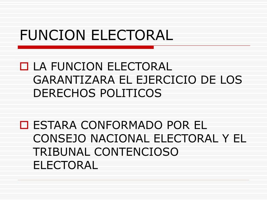 FUNCION ELECTORAL