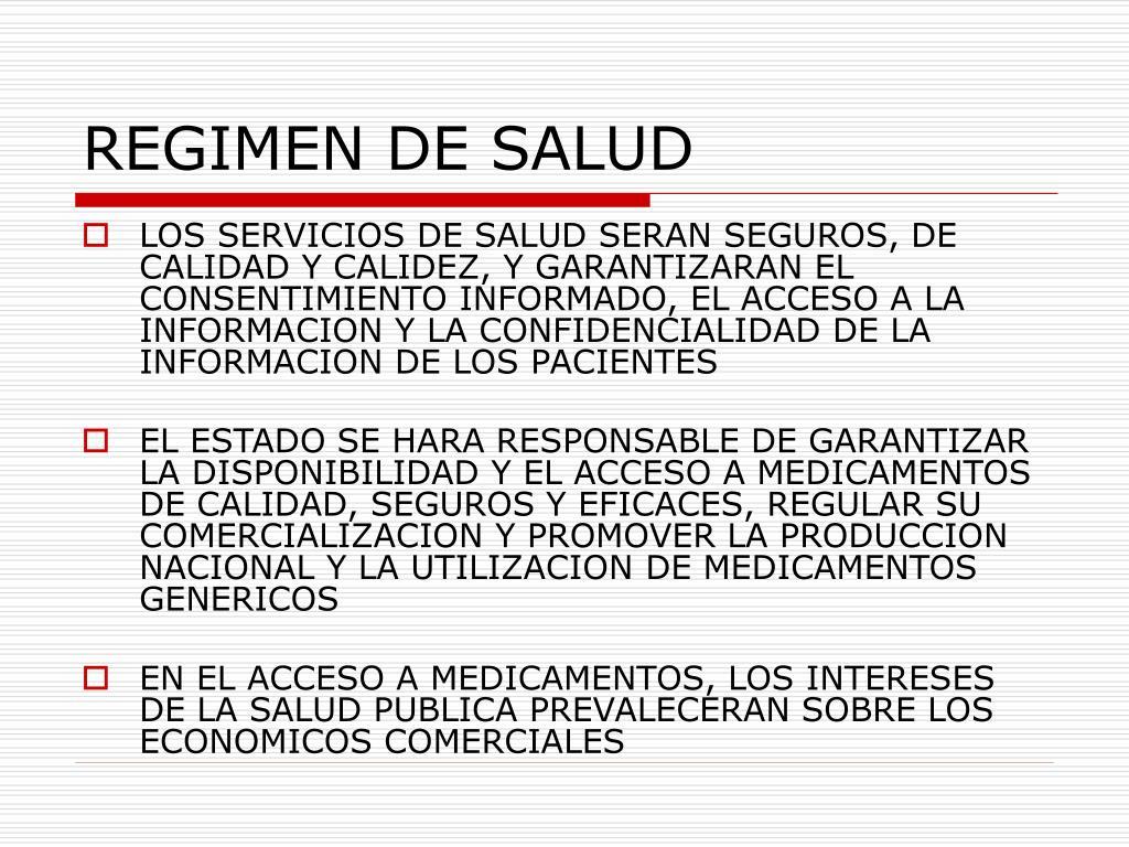 REGIMEN DE SALUD