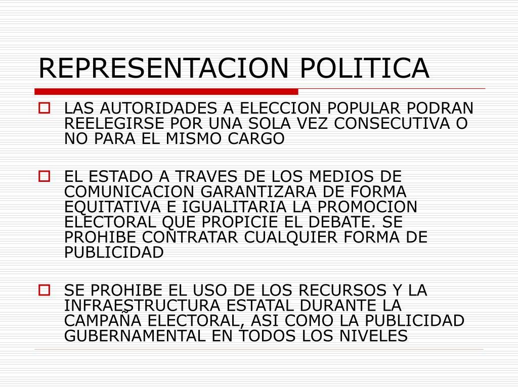 REPRESENTACION POLITICA