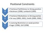 positional constraints