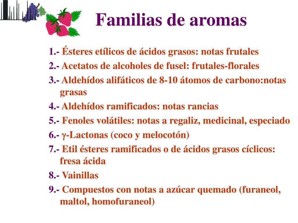 Familias de aromas