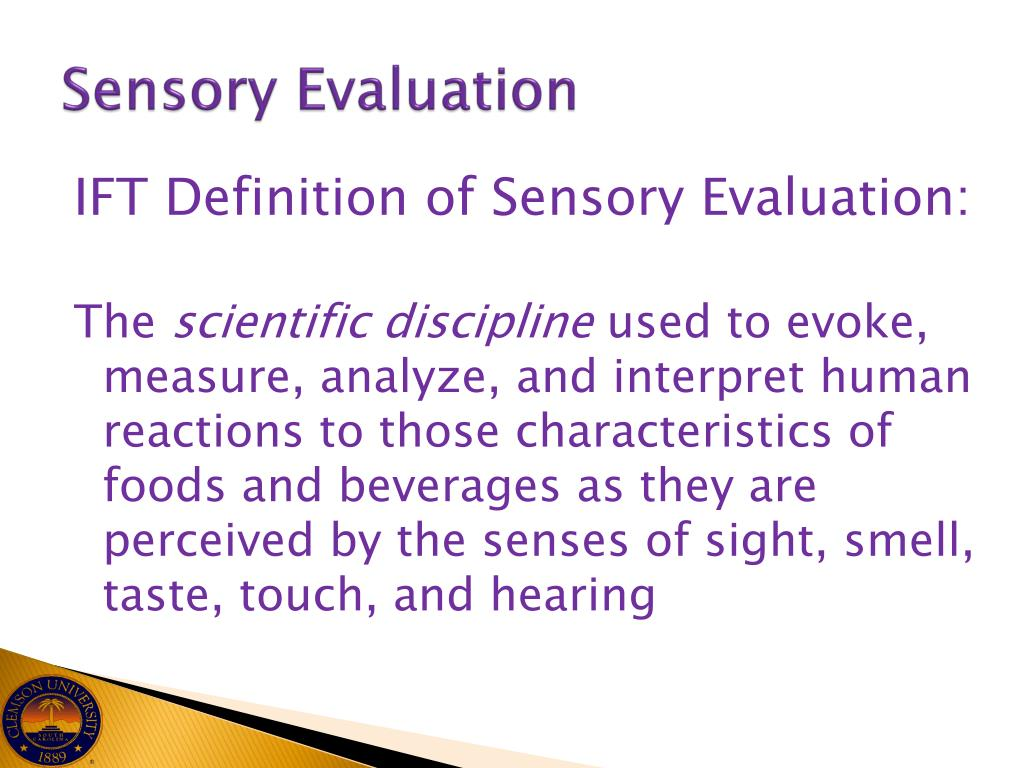 Ppt Sensory Evaluation In The Culinary Classroo M Powerpoint