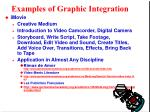 examples of graphic integration10