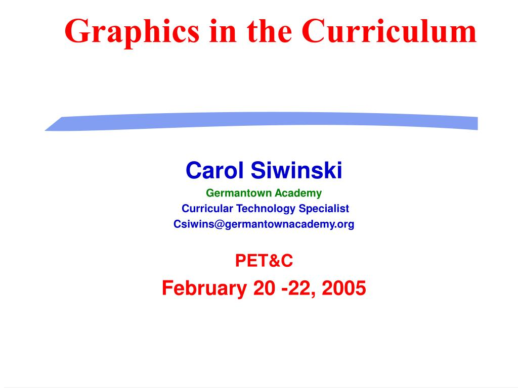graphics in the curriculum l.