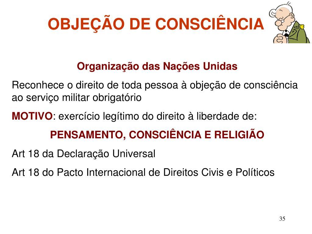 OBJEÇÃO DE CONSCIÊNCIA