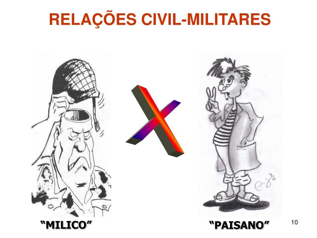 RELAÇÕES CIVIL-MILITARES
